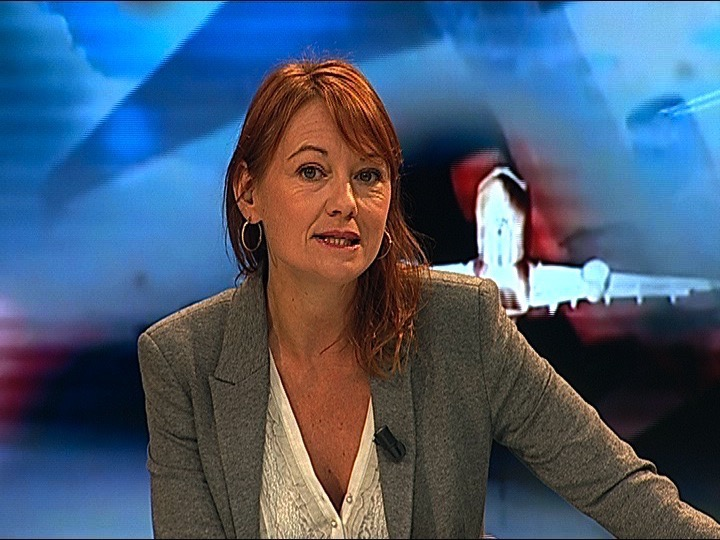 Sophie Voinis, présentatrice, rédactrice en chef et productrice du magazine télé Aerospace